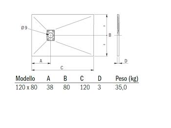 CARPET MATT PIATTO DOCCIA 120X 80 GRIGIO codice prod: DSV14225GR product photo Default L2
