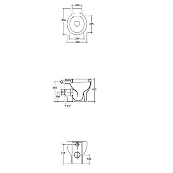 EL1 9817 WC SCARICO UNIVERSALE BIANCO codice prod: 9817 product photo Foto1 L2
