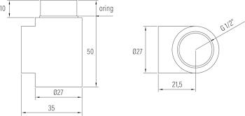 KIT VALVOLINA SFIATO E RACC T BIANCO codice prod: DSV14985 product photo Default L2