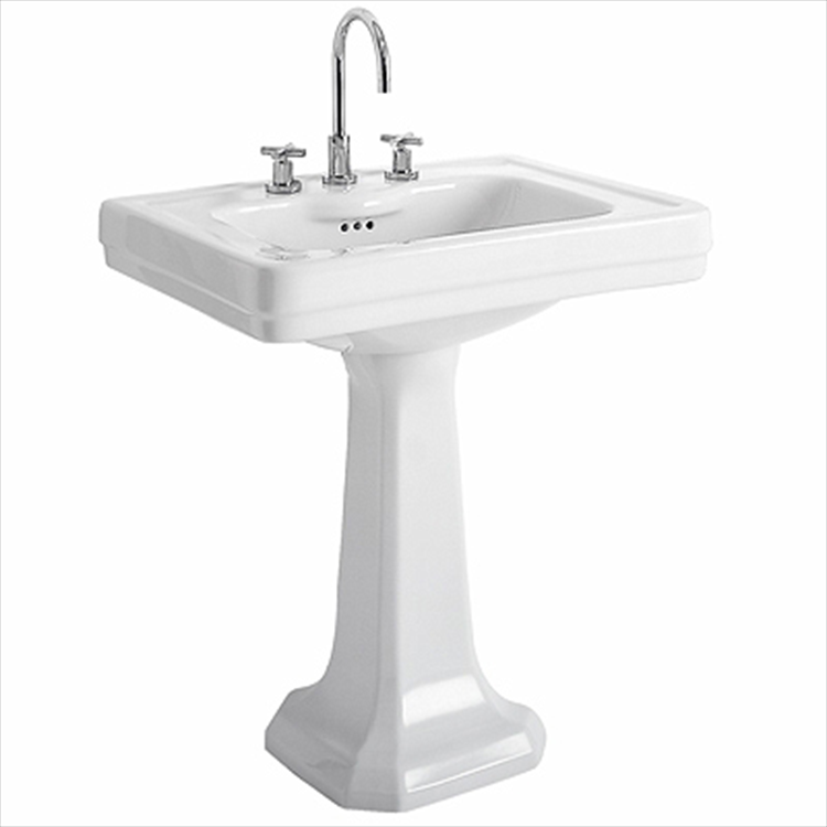 MONTEBIANCO 07024000 LAVABO CON COLONNA MONOFORO BIANCO codice prod: 07024000 product photo