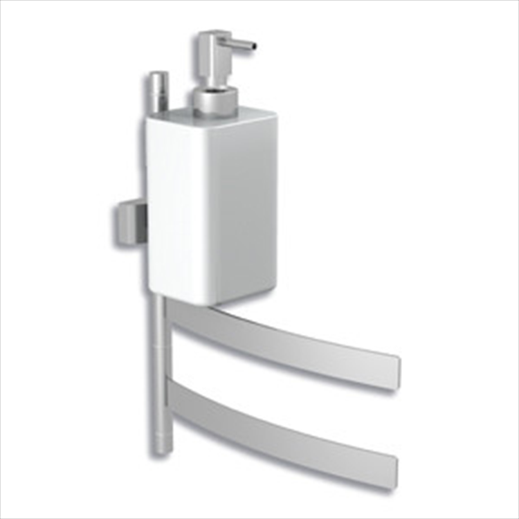 DUECENTO 233 SNODO PORTA SALVIETTE BIDET CON 2 BRACCI E SUPPORTO PER DISPENSER codice prod: 12220370000 product photo