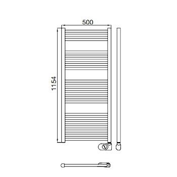 SCALDASALVIETTE ELECTRIC 1150 R/TEMP H1154 L500 ANALOGICO codice prod: DSV16755 product photo Foto1 L2