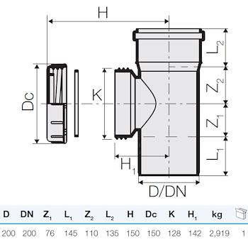 TRISTORM ISPEZIONE D.200 C/TAPPO codice prod: DSV13058 product photo Foto1 L2