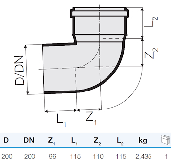 TRISTORM CURVA D.200 87° codice prod: DSV13045 product photo Foto1 L2