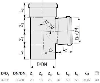 P.P. DERIV. 87° DIAM. 32 codice prod: DSV00954 product photo Foto1 L2