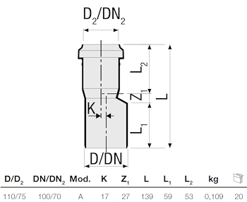 P.P. AUMENTO DIAM. 75/110 codice prod: DSV01036 product photo Foto1 L2