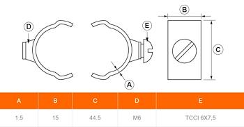 COLLARE INCASTRO D. 35 IN RAME codice prod: DSV08193 product photo Foto1 L2