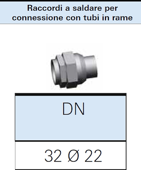 RACCORDO A SALDARE GAS DN32 PER CONNESSIONE 22X1 codice prod: DSV16313 product photo Foto1 L2