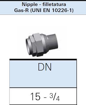 """RACCORDO DIRITTO X GAS DN15 3/4"""" M codice prod: DSV16275 product photo Foto1 L2"""