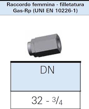 """RACCORDO DIRITTO X GAS DN32 3/4"""" F codice prod: DSV16289 product photo Foto1 L2"""