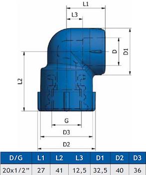 GOMITO A 90 FIL.FEMM.K23 D.20X1/2 codice prod: DSV02148 product photo Foto1 L2
