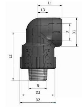 GOMITO A 90 FIL.MAS. K21 D.25X3/4 codice prod: DSV02143 product photo Foto3 L2