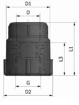 "GIUNTO FILETT. FEMM.K13 D.40X1""1/4 codice prod: DSV02088 product photo Foto3 L2"