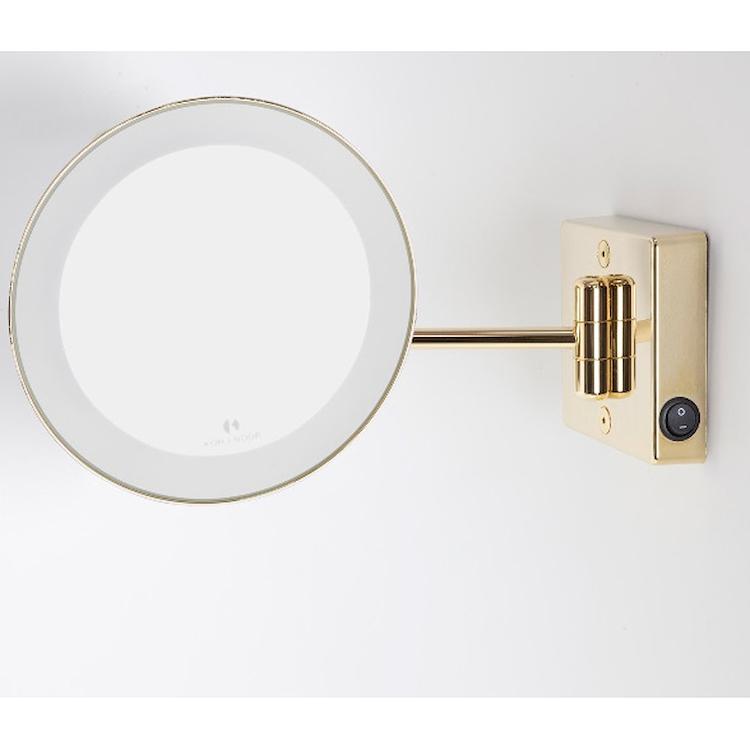 DISCOLO LED C35/1G2 SPECCHIO INGRANDITORE X2 Ø23 ROTONDO COLOR ORO codice prod: C35/1G2 product photo
