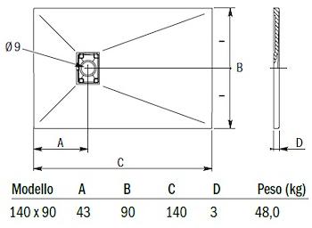 PIATTO DOCC.MINERAL STORM 140X90 GRIGIO codice prod: DSV16525GR product photo Default L2