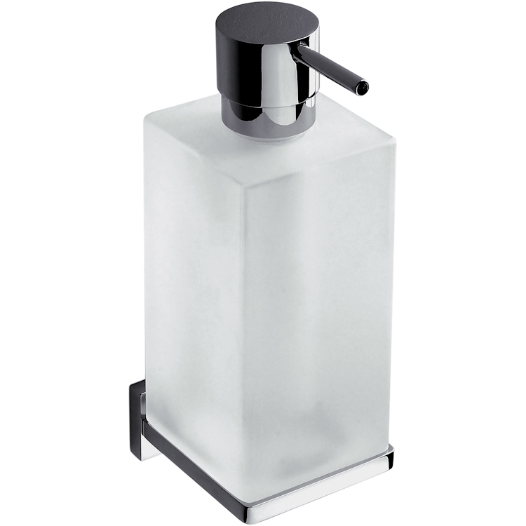 LOOK B9316 P/DISPENSER PARETE VAN/BM PORTADISP BIANCO OP VETRO ACIDATO NATUR codice prod: B93160BM-VAN product photo