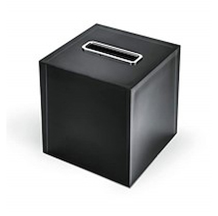 COOL ICY W4504 PORTA KLEENEX RESINA NERO codice prod: W4504-RNE product photo