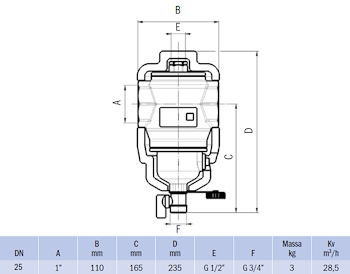 """DEFANGATORE MAGNETICO FILETTATO G 1"""" IN OTTONE CON COIBENTAZIONE codice prod: DSV17823 product photo Foto1 L2"""