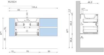 BASE MUNCH 135 SOSP.C/4 CASS.EL.GIOR.LAT CONS.TECHNOTECK BCO OPACO V.SX PROVENZA codice prod: DSV17797 product photo Default L2