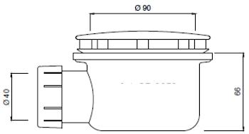 PILETTA X PIATTO DOCCIA PLANE ELLE STORM codice prod: DSV16860 product photo Foto1 L2