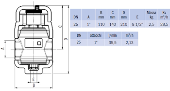 """DISAERATORE FILETTATO G 1"""" IN OTTONE CON COIBENTAZIONE codice prod: DSV17835 product photo Foto1 L2"""