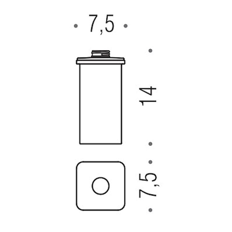 BASIC Q B9377 CONTENITORE DISPENSER CROMATO codice prod: B93770CR-VAN product photo
