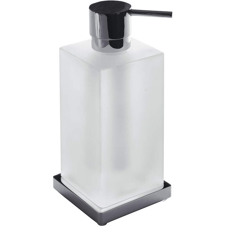 LOOK B9317 P/DISPENSER APPOGGIO CR/BOP PORTADISPENSER VETRO ACIDATO NATUR codice prod: B93170BM-CR product photo