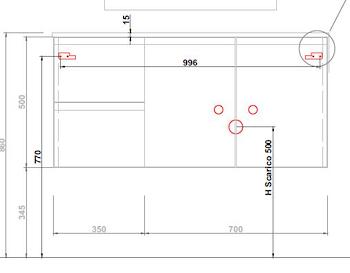 BASE TIZIANO SOSP.DX 2 ANTE 2 CASS.TOP C/VASCA INTEGR.L.105 P.50CM SHERW.PLAT. codice prod: DSV15359 product photo Default L2