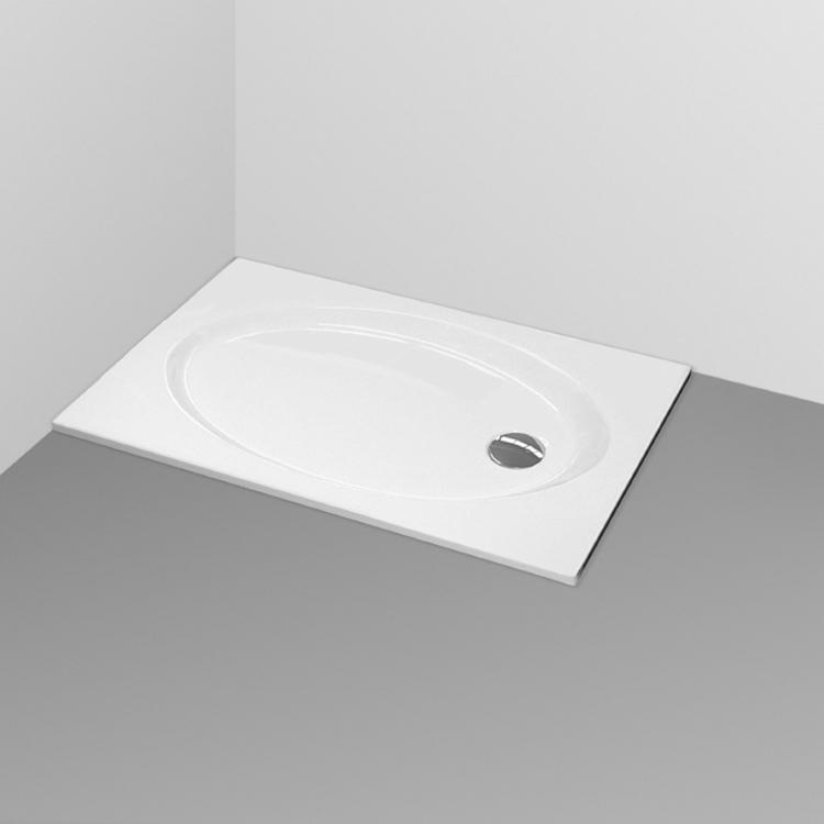 CONNECT Piatto doccia acrilico 90x75 bianco europeo codice prod: K198101 product photo