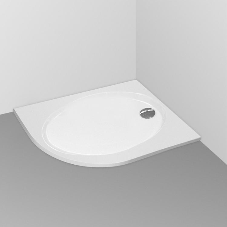 CONNECT Piatto doccia angolare sinistro bianco europeo 90x70x4in acrilico codice prod: K198601 product photo