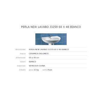 PERLA Lavabo 60x48 bianco GARANZIA EUROPEA 2 ANNI codice prod: J325900 product photo Foto1 L2