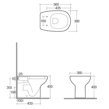 ORIENT WC BIANCO codice prod: ORWC00002 product photo Foto1 L2
