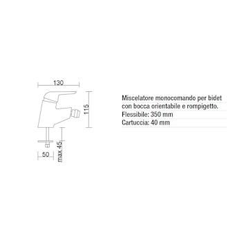Miscelatore ERCOS SIRIO mix bidet cromato con bocca orientabile codice prod: BMSIR3 product photo Foto1 L2