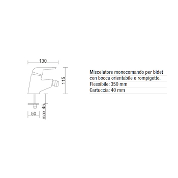 SIRIO RUBINETTO BIDET OUTLET codice prod: BMSIR3 product photo Foto1 L2