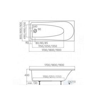 TONIC vasca 170X70 codice prod: K692201 product photo Foto1 L2
