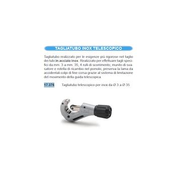 IDRHAUS tagliatubo telescopico per inox d.3-d.35 codice prod: 17.376 product photo Default L2