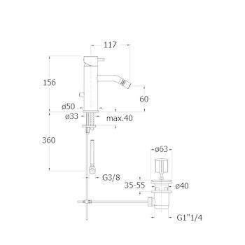 TRICOLORE VERDE RUBINETTO BIDET MONOLEVA codice prod: LISTV32151 product photo Foto1 L2
