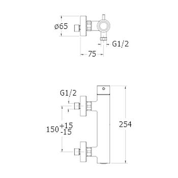 TRICOLORE VERDE RUBINETTO DOCCIA ESTERNO codice prod: LISTV48151 product photo Foto1 L2