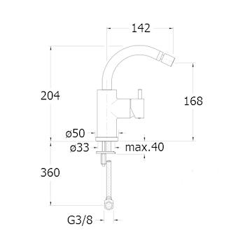 TRICOLORE VERDE RUBINETTO BIDET MONOLEVA codice prod: LISTV37651 product photo Foto1 L2