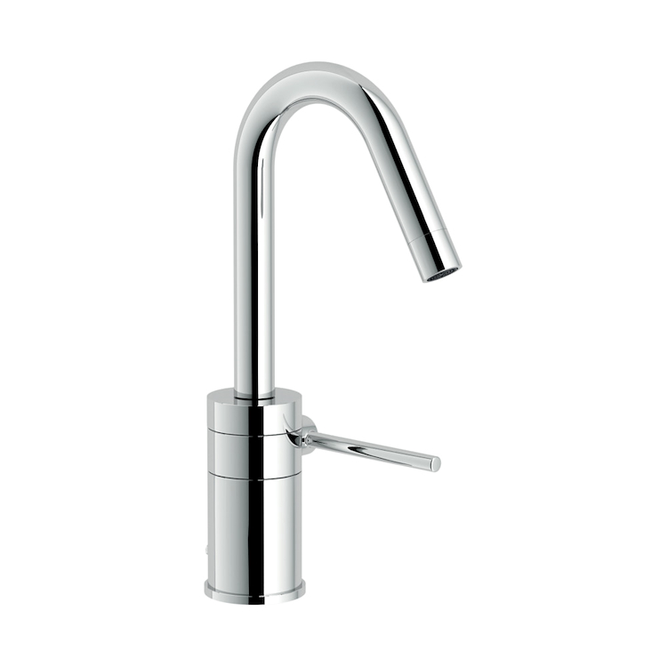 PLUS RUBINETTO LAVABO MONOLEVA CON BOCCA GIREVOLE codice prod: PL00118/1CR product photo
