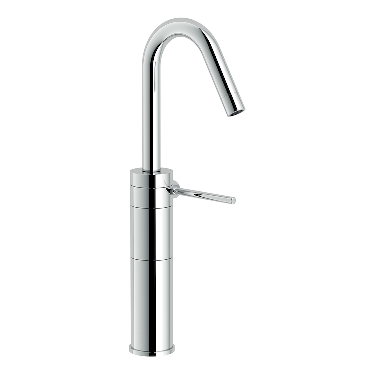 PLUS RUBINETTO LAVABO MONOLEVA A BOCCA ALTA E GIREVOLE codice prod: PL00158CR product photo