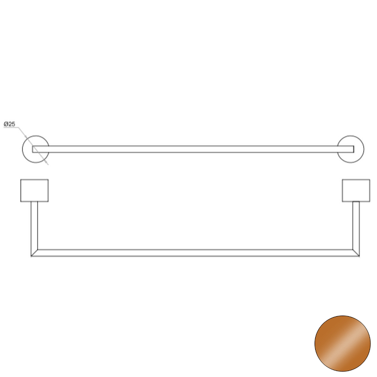 OFFICINA 02 4577 PORTA SALVIETTE BRONZO codice prod: 11445778000 product photo