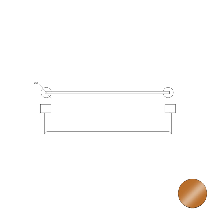 OFFICINA 02 4575 PORTA SALVIETTE 30 BRONZO codice prod: 11445758000 product photo