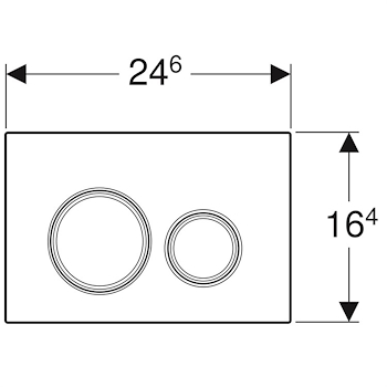 SIGMA 21 115.884.SI.1 PLACCA 2 TASTI VETRO BIANCO codice prod: 115.884.SI.1 product photo Foto1 L2