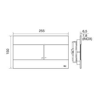 SLIM DUAL PLACCA BIANCA codice prod: OL0659041 product photo Foto1 L2