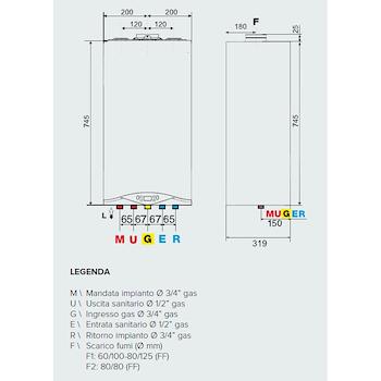 CALDAIA MURALE CARES PREMIUM 24 CONDENSAZIONE codice prod: 3301322 product photo Foto2 L2
