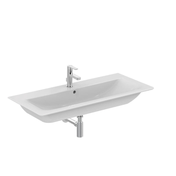 CONNECT AIR E027401 LAVABO TOP SOSPESO 1 FORO BIANCO codice prod: E027401 product photo