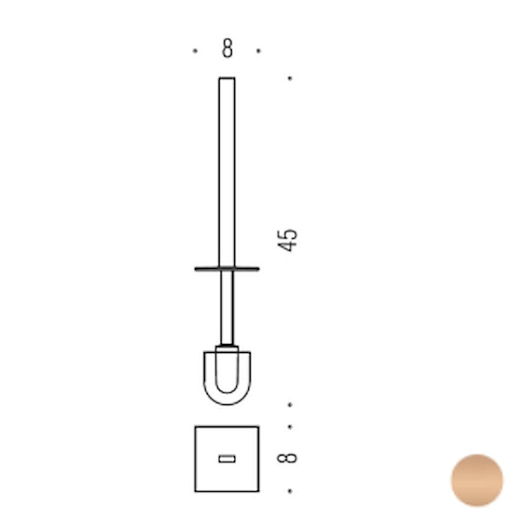 LOOK B16580VL MANICO CON CIUFFO VINTAGE codice prod: B16580VL product photo