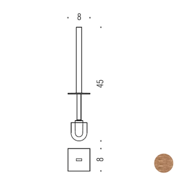 LOOK B16580VM MANICO CON CIUFFO VINTAGE MAT codice prod: B16580VM product photo