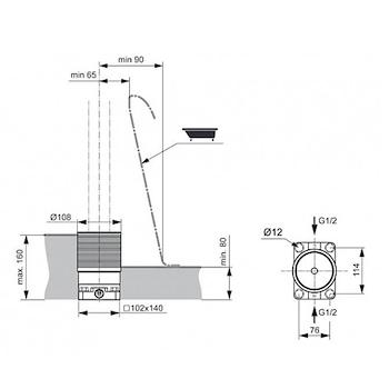 RICAMBI A6133 PARTE INCASSO MISCELATORE PAVIMENTO VASCA FREE STANDING NEUTRO codice prod: A6133NU product photo Foto1 L2